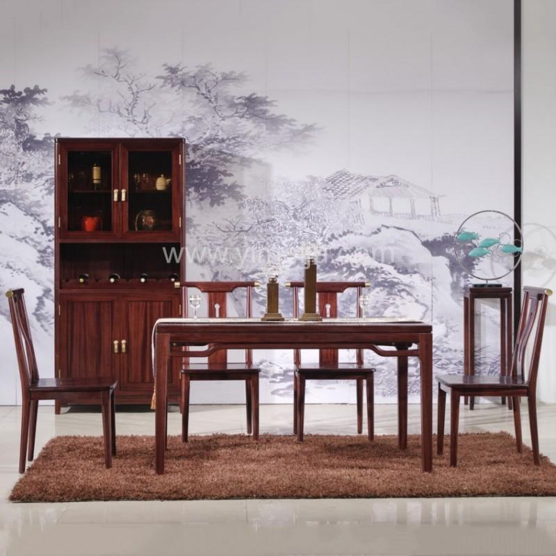 汉檀韵新中式实木酒柜9102