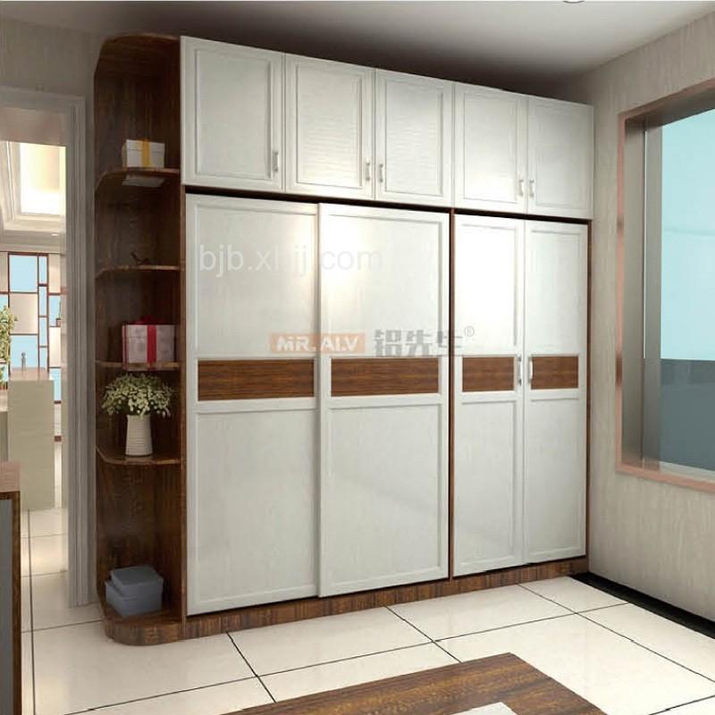 黑金刚白橡木组合全铝衣柜MRALV-B49 批发厂家