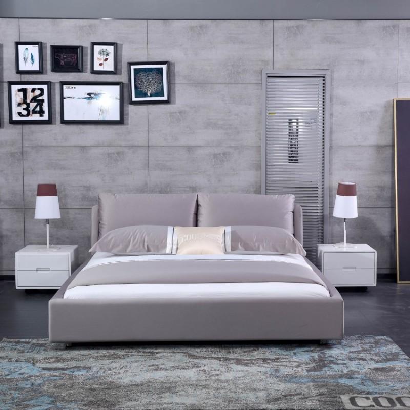 时尚布艺大床香槟色 卧室布艺床-127092