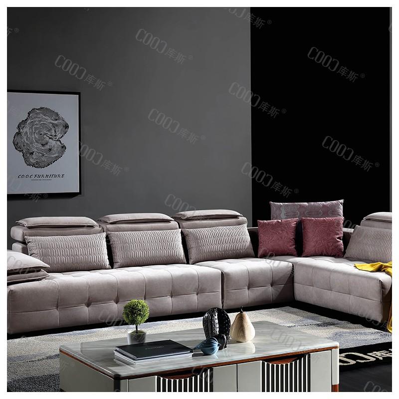 时尚高档客厅布艺沙发 简约布艺沙发茶几电视柜组合_8008