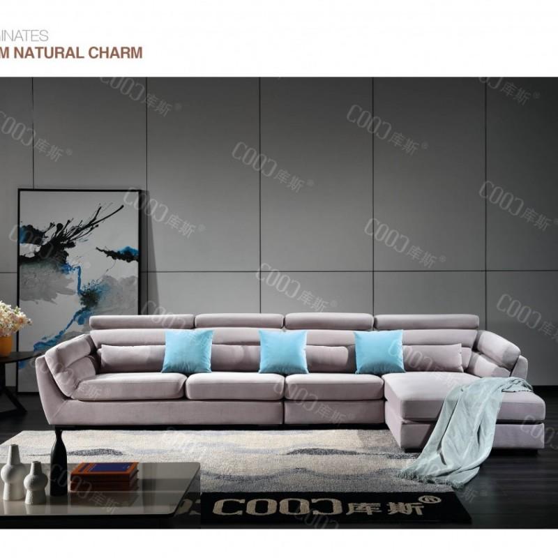 时尚高档客厅布艺沙发 简约布艺沙发茶几电视柜组合_8015
