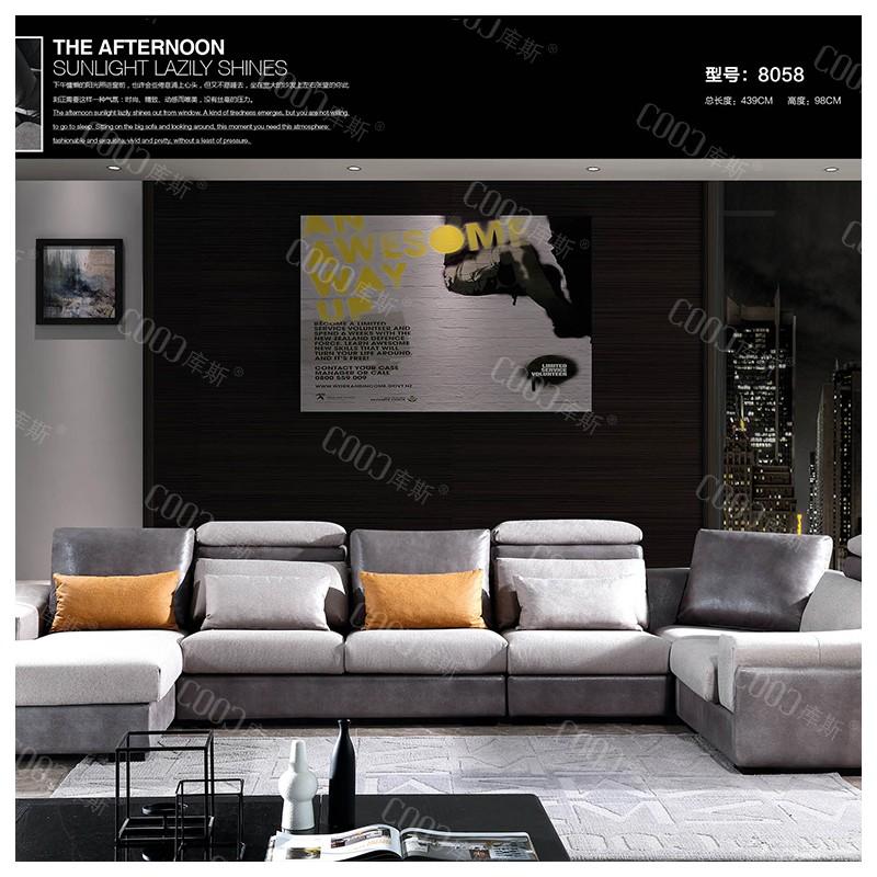 时尚高档客厅布艺沙发 简约布艺沙发茶几电视柜组合_8058