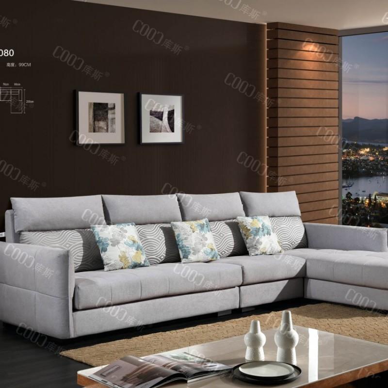 时尚高档客厅布艺沙发 简约布艺沙发茶几电视柜组合_8080