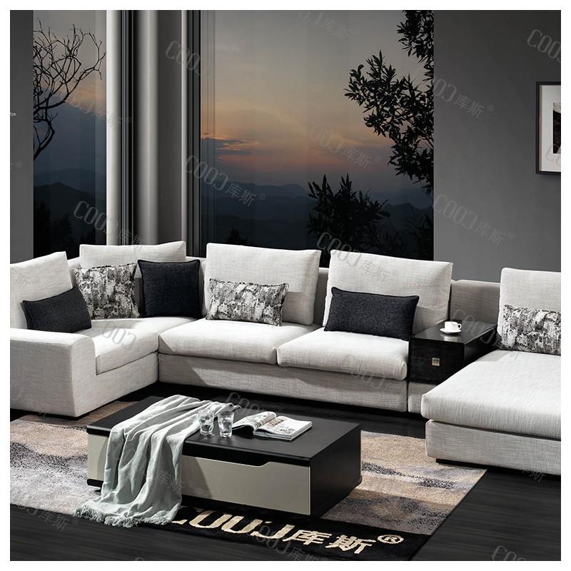 时尚高档客厅布艺沙发 简约布艺沙发茶几电视柜组合_8098