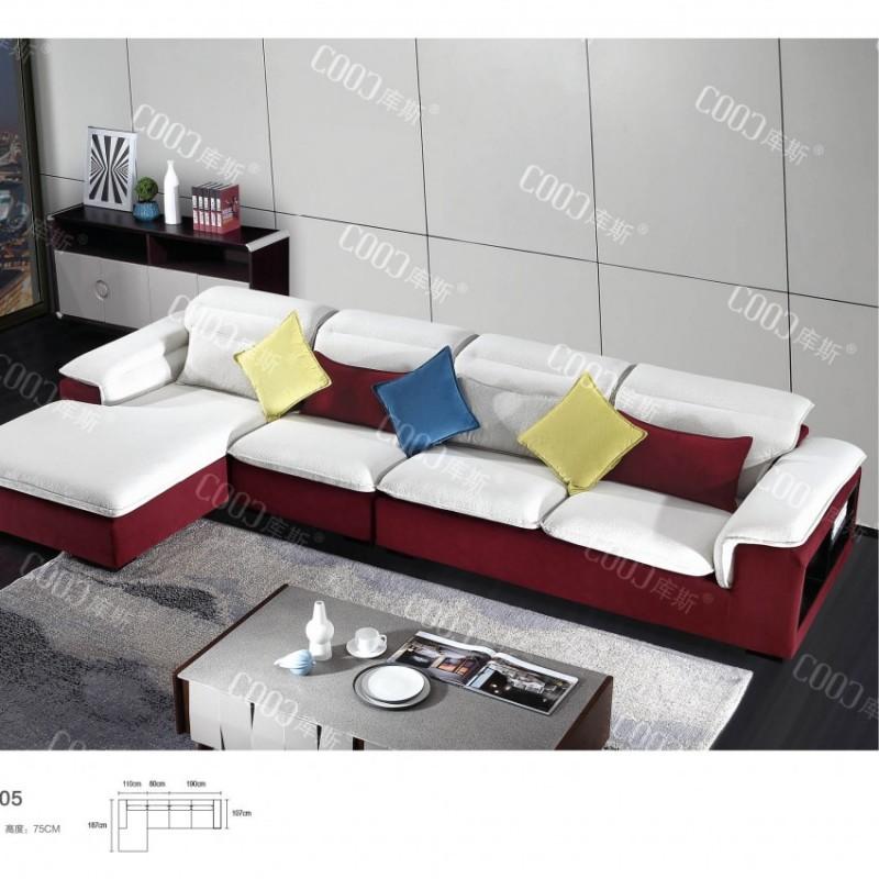 时尚高档客厅布艺沙发 简约布艺沙发茶几电视柜组合_9005
