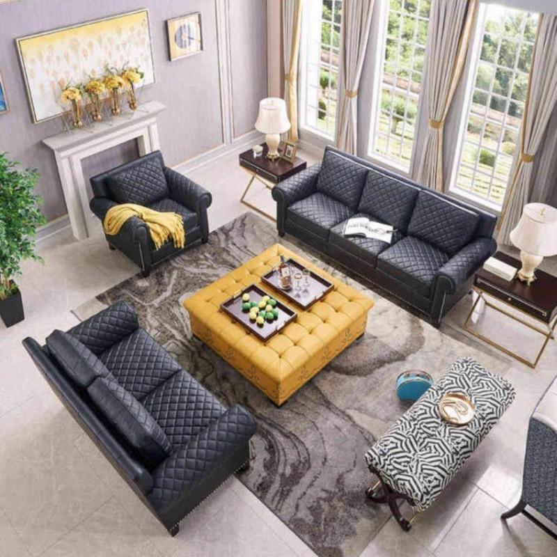 美高美时尚轻奢客厅沙发 高端大气客厅沙发-1
