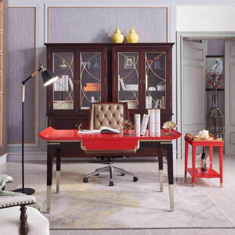 美高美时尚轻奢书房书桌书椅书柜套-2
