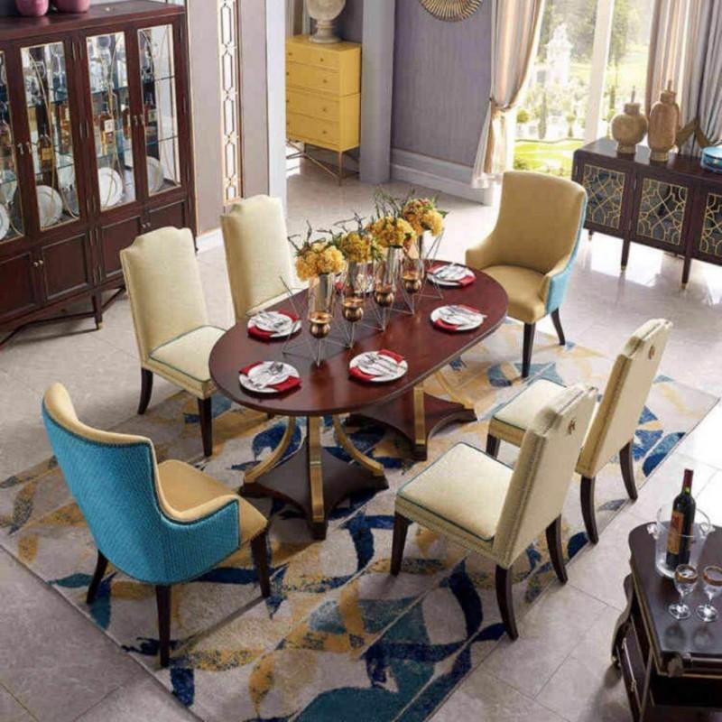 美高美时尚轻奢餐厅家具 餐桌餐椅套餐 餐边柜-4