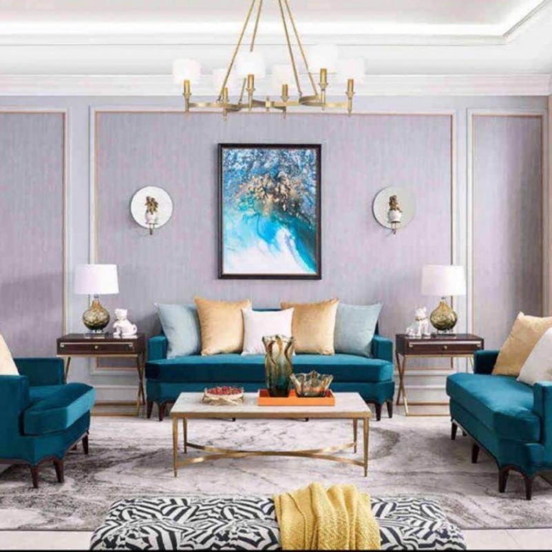 美高美轻奢时尚客厅沙发套装 沙发茶几客厅家具-3