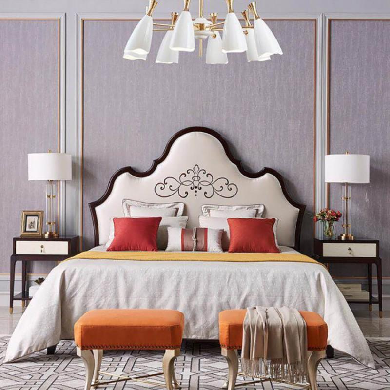 美高美时尚轻奢卧室大床 卧室家具轻奢简约床-5