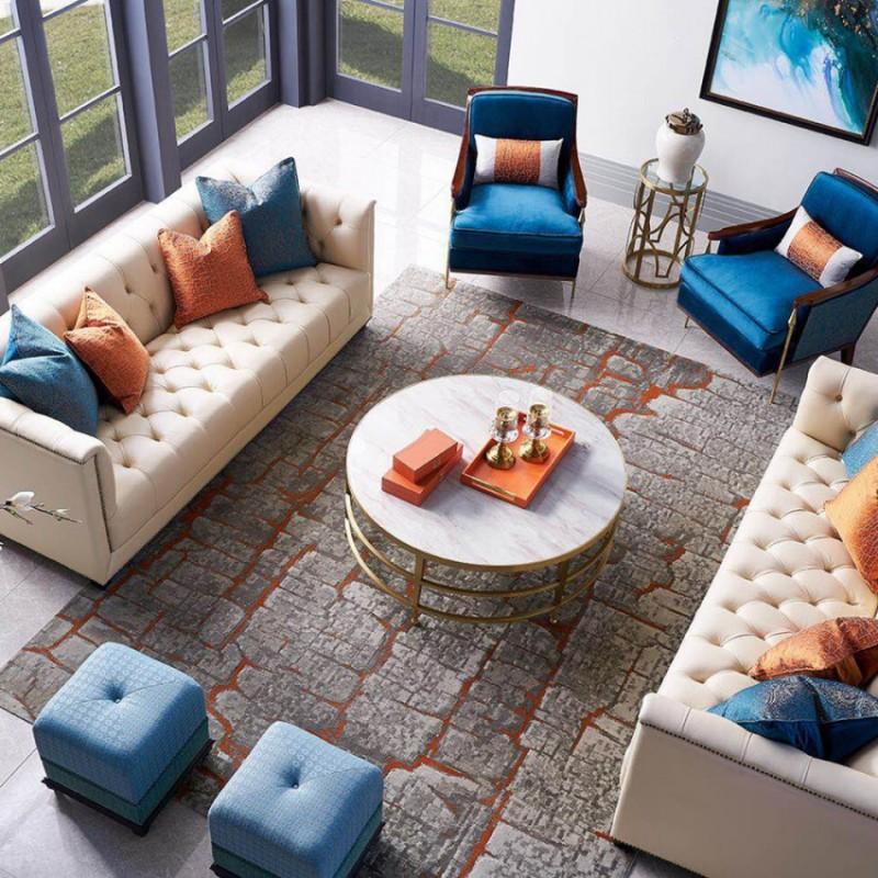 美高美轻奢时尚客厅沙发套装 沙发茶几客厅家具-6