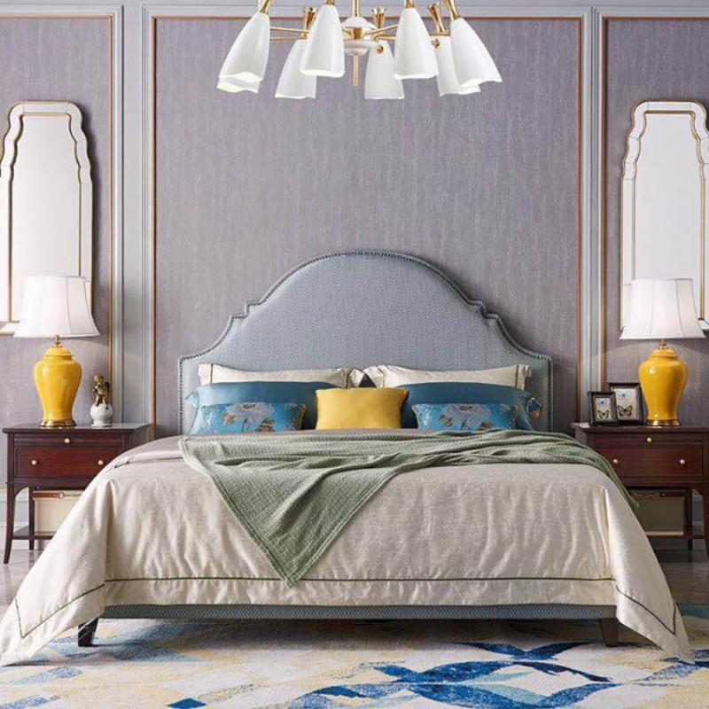 美高美轻奢时尚卧室大床卧房套  简约时尚轻奢卧室床-9