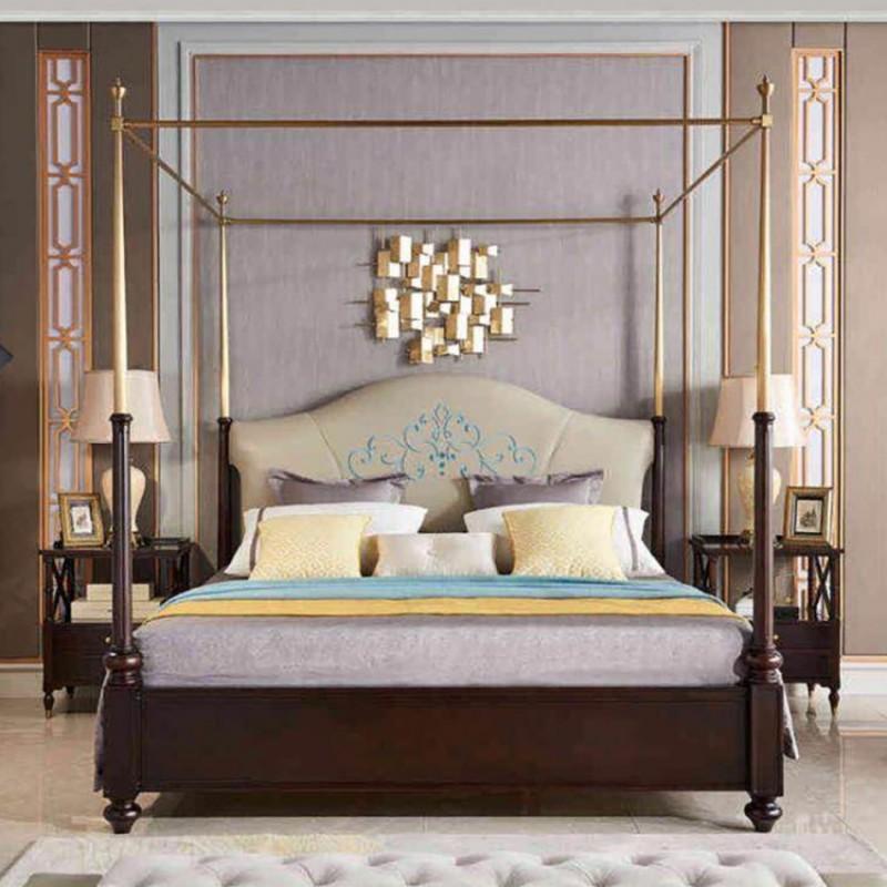 美高美轻奢时尚卧室大床卧房套  简约时尚轻奢卧室床-10