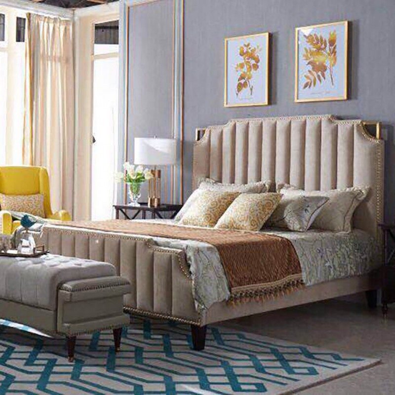 美高美轻奢时尚卧室大床卧房套  简约时尚轻奢卧室床-18