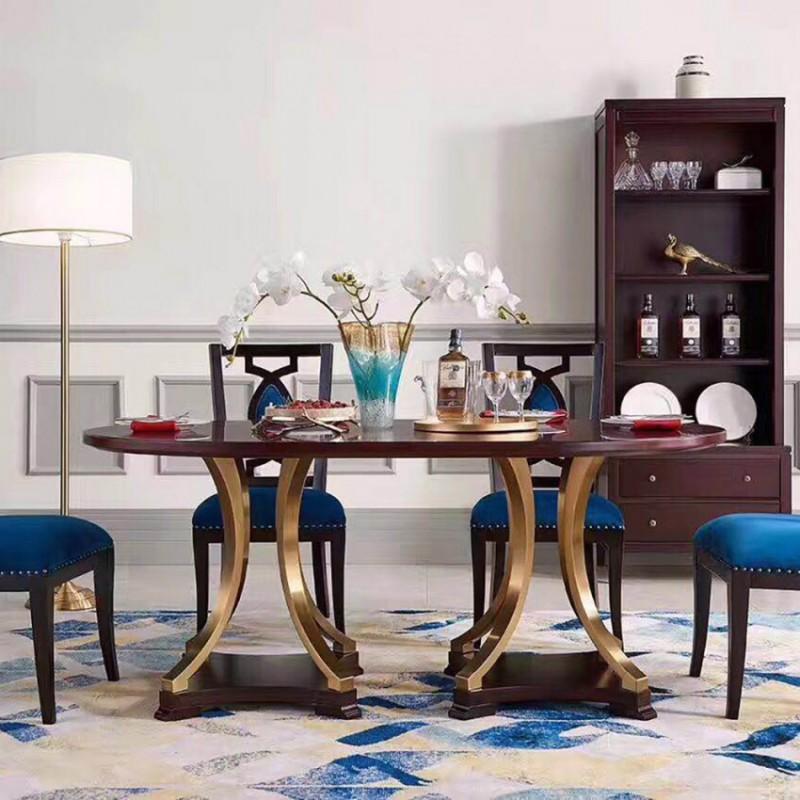 美高美轻奢时尚餐厅餐桌椅套  简约时尚轻奢风圆桌椅-20