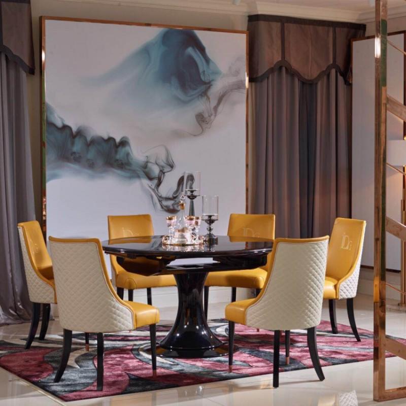 英迪格轻奢餐桌餐椅套  时尚轻奢餐厅家具-1