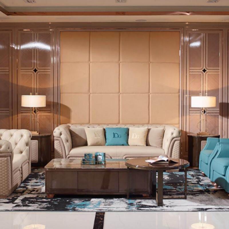 英迪格时尚轻奢风客厅沙发茶几  客厅沙发套轻奢风格-3