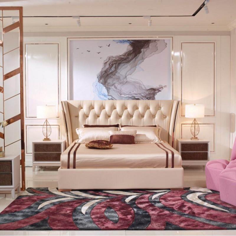 英迪格轻奢时尚卧室大床卧房套 简约时尚轻奢卧室床-19