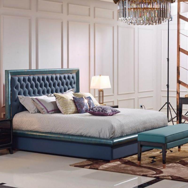 英迪格轻奢时尚卧室大床卧房套 简约时尚轻奢卧室床-21