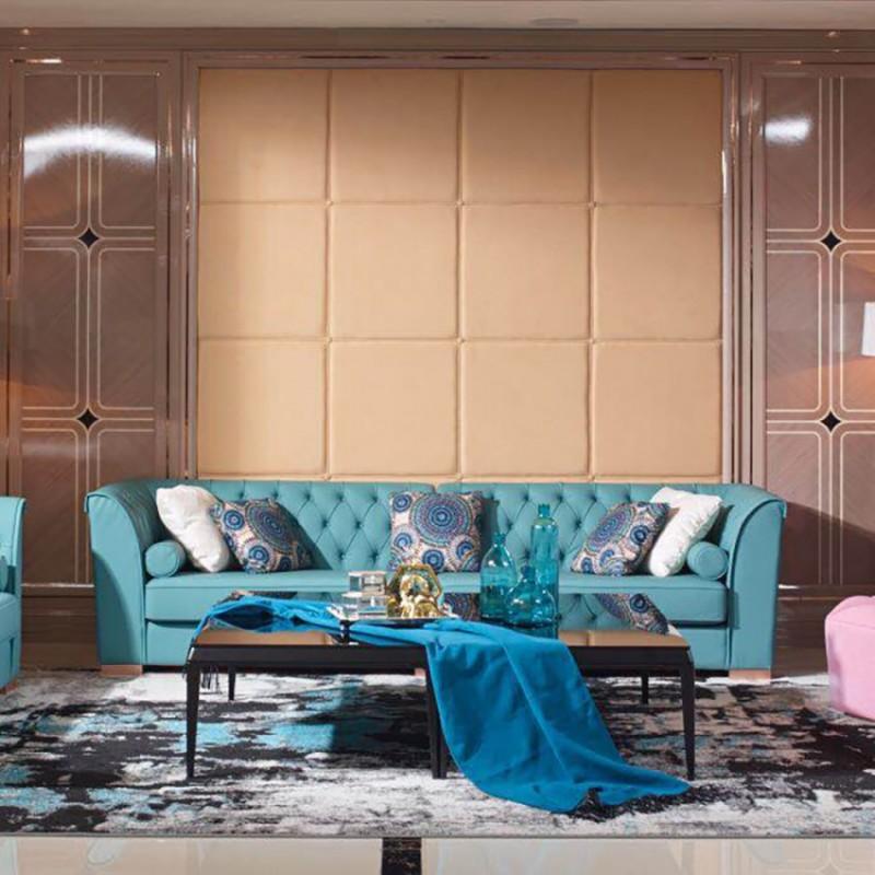 英迪格时尚轻奢风客厅沙发茶几 客厅沙发套轻奢风格-7