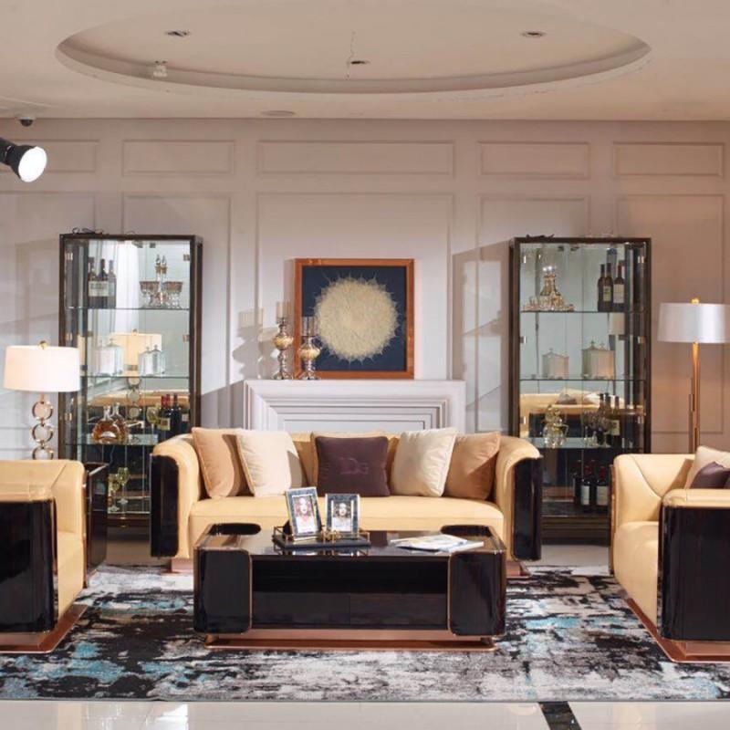 英迪格时尚轻奢风客厅沙发茶几 客厅沙发套轻奢风格-8