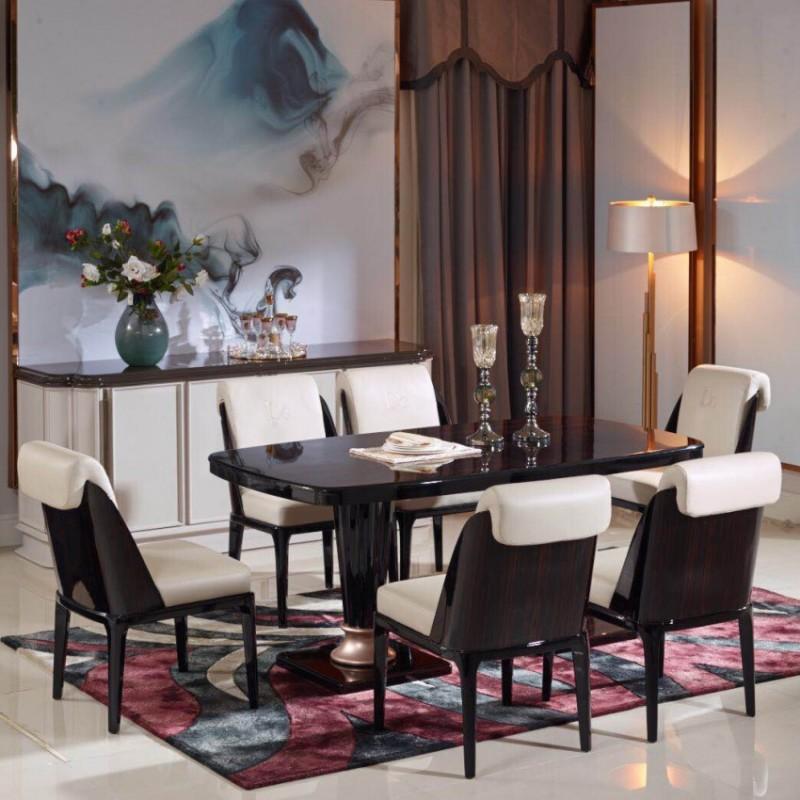 英迪格轻奢餐桌餐椅套 时尚轻奢餐厅家具-11