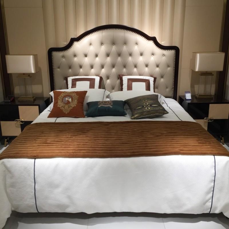 安邸轻奢卧室家具床床头柜 时尚轻奢大床—Z507