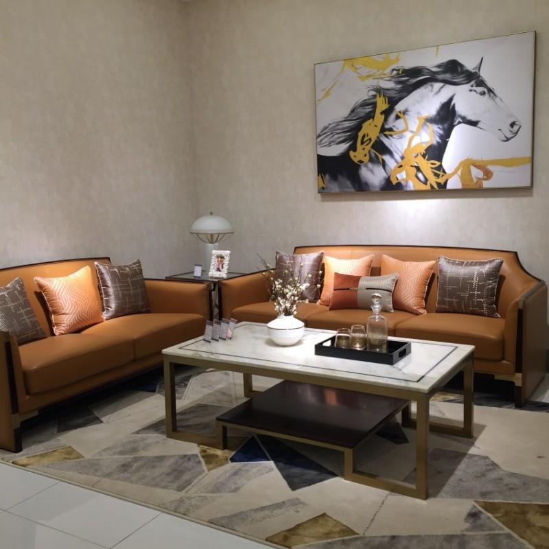 安邸时尚轻奢风客厅沙发茶几 客厅沙发套轻奢风格-Z505SF