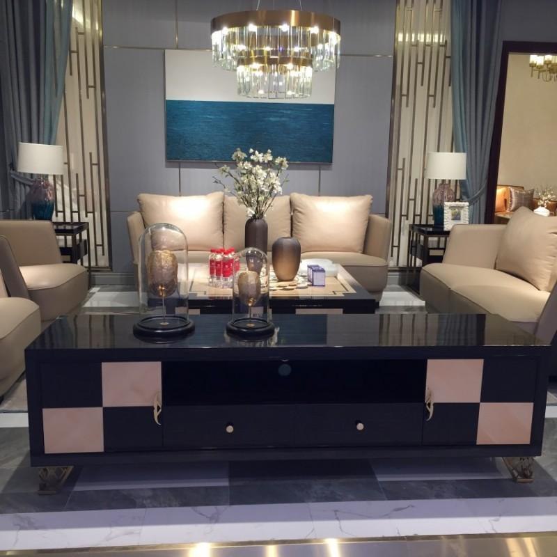 安邸时尚轻奢风客厅沙发茶几 客厅沙发套轻奢风格-Z515SF