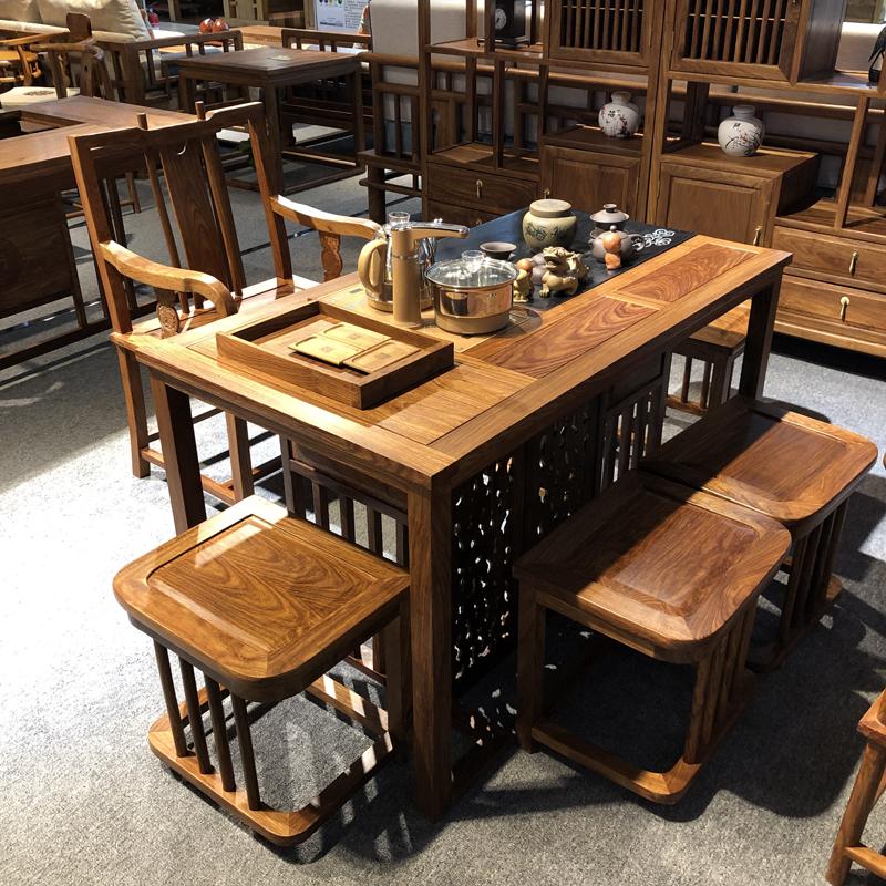 实木茶桌椅组合 功夫茶桌新中式茶几茶台CZ-02