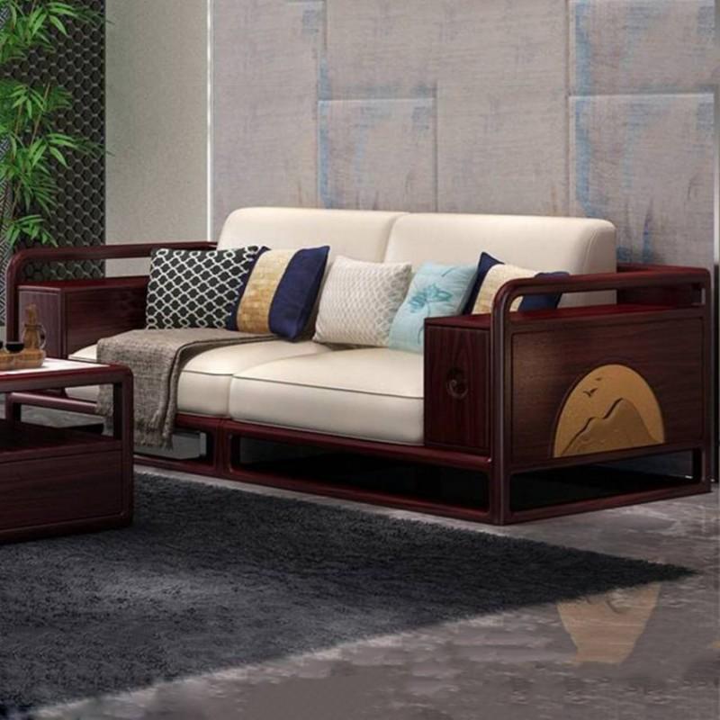 喜之林东阅客厅实木沙发 新中式家具沙发实木家具1
