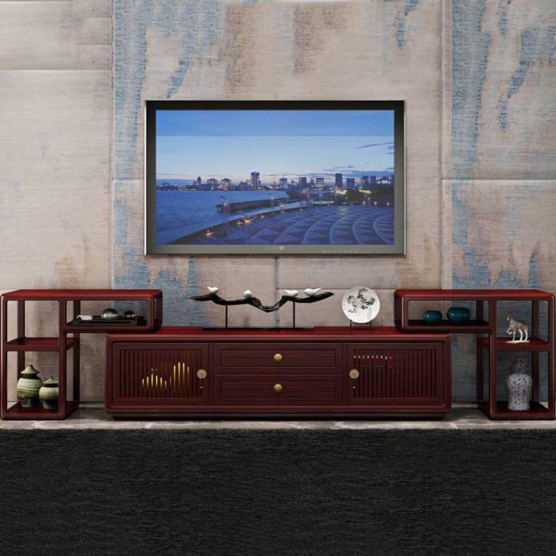 喜之林东阅客厅实木电视柜组合柜 新中式家具电视柜地柜组合柜4