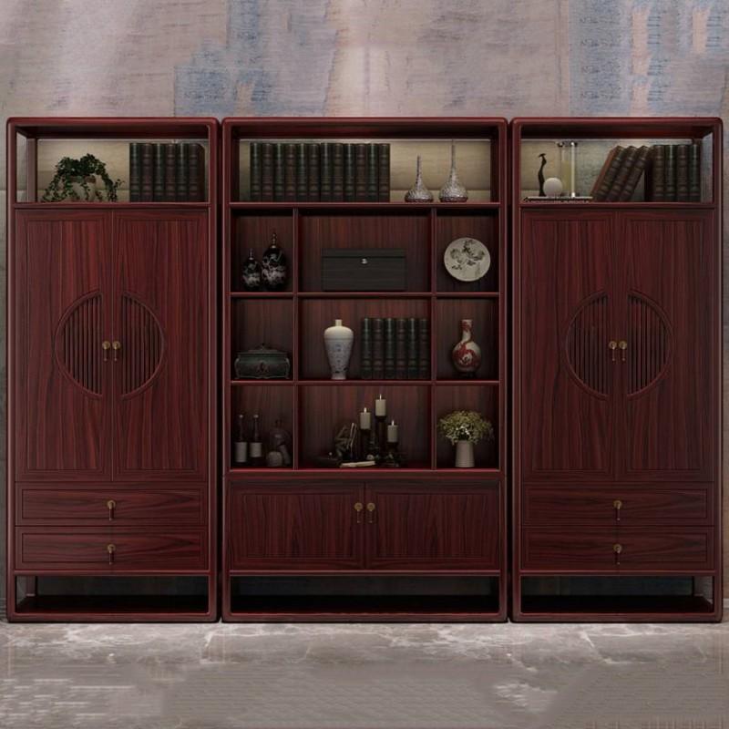 喜之林东阅书房书架 新中式家具书房书架展示柜2