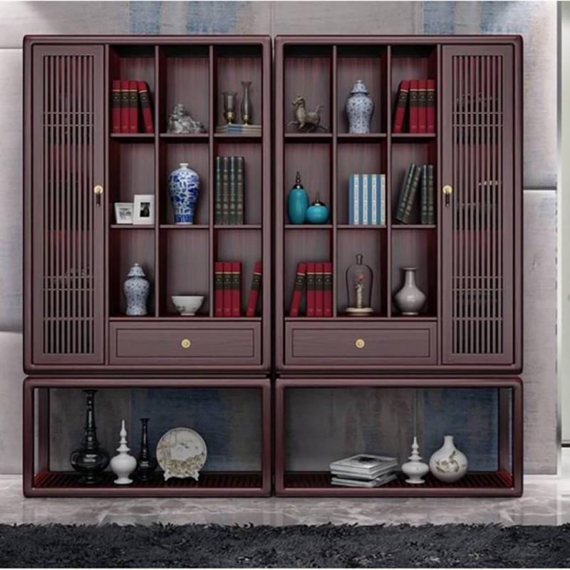 喜之林东阅书房书架 新中式家具书房书架展示柜1