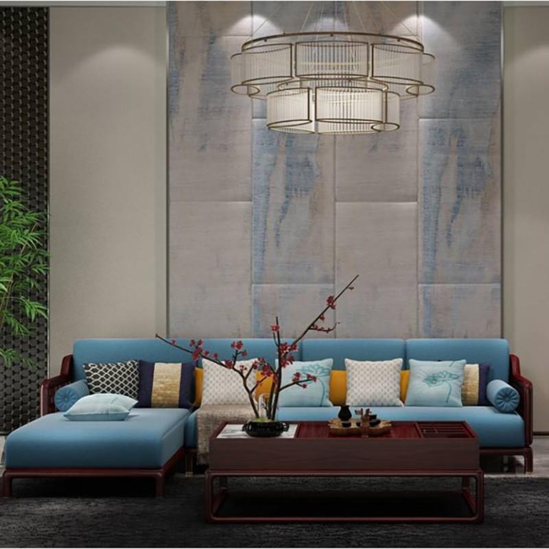 喜之林东阅客厅实木沙发 新中式家具沙发实木家具3