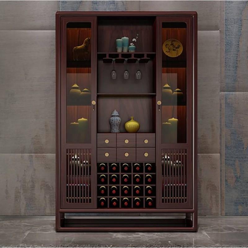 喜之林东阅餐厅家具酒柜 边柜展示柜 新中式酒柜1