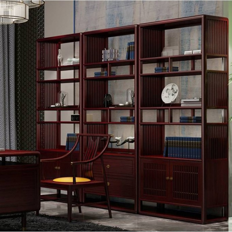喜之林东阅书房书架 书桌书椅套 新中式家具书房书架展示柜3
