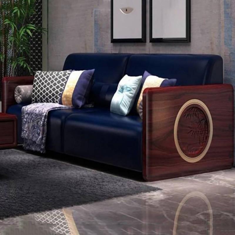 喜之林东阅客厅实木沙发 新中式家具沙发实木家具2