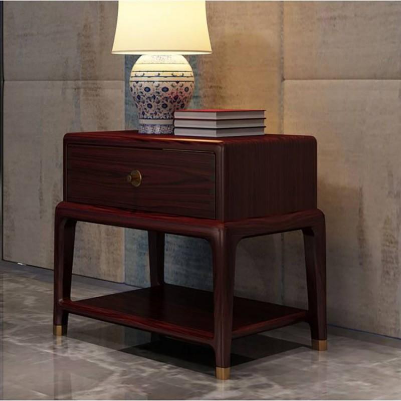 喜之林东阅卧室家具床头柜 新中式实木床头柜1