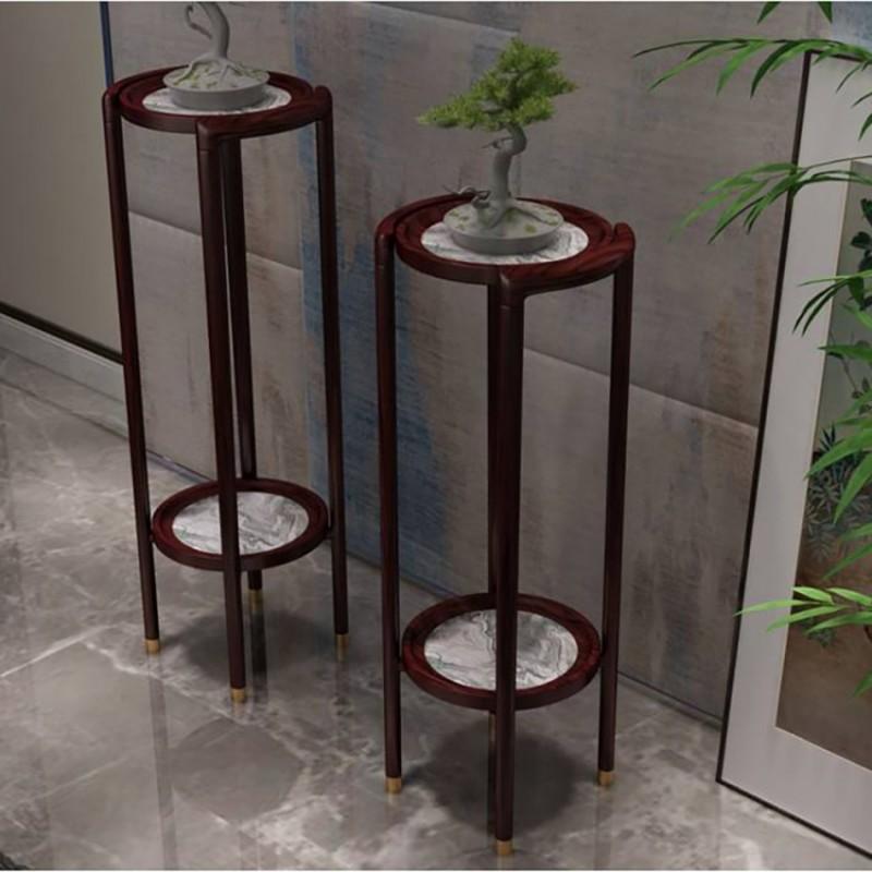 喜之林东阅客厅家具花架 新中式实木花架