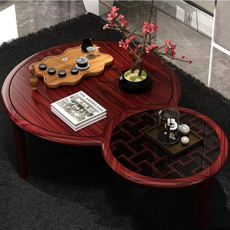 喜之林东阅客厅家具茶几方几茶桌 新中式实木茶几方几茶台1