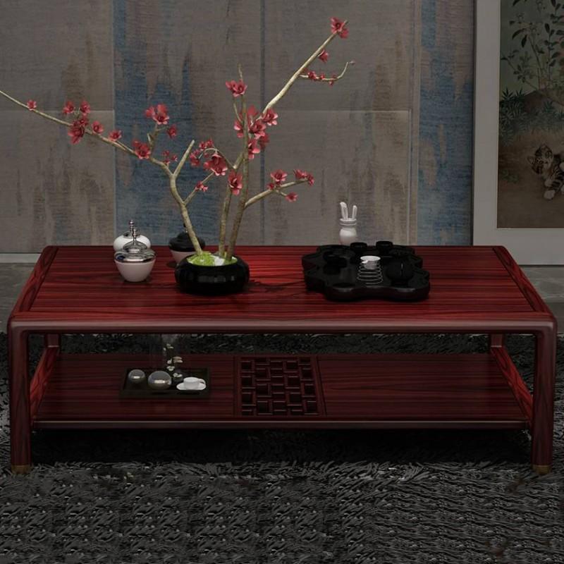 喜之林东阅客厅家具茶几方几茶桌 新中式实木茶几方几茶台2