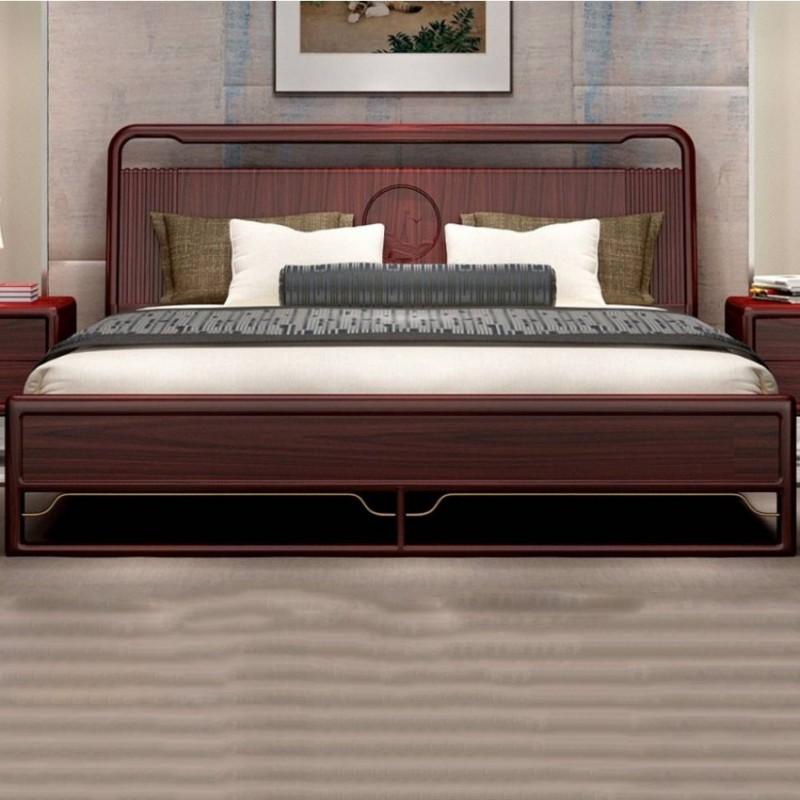 喜之林东阅卧房家具实木大床 新中式实木大床3