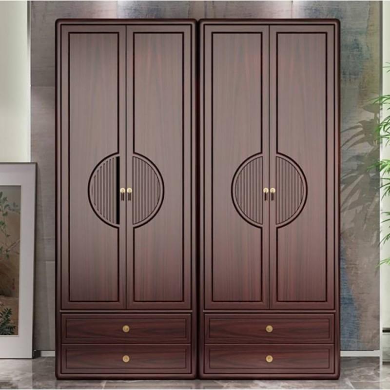 喜之林东阅新中式实木家具卧室衣柜  实木衣柜展示柜2
