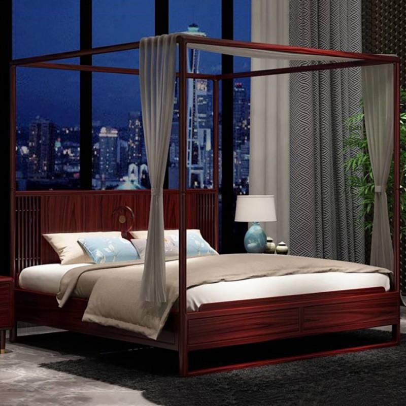 喜之林东阅卧房家具实木大床 新中式实木大床2