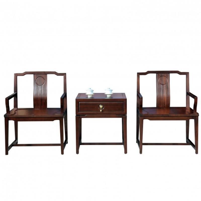 居兴闻檀客厅家具休闲椅茶几套装 新中式休闲椅圈椅1