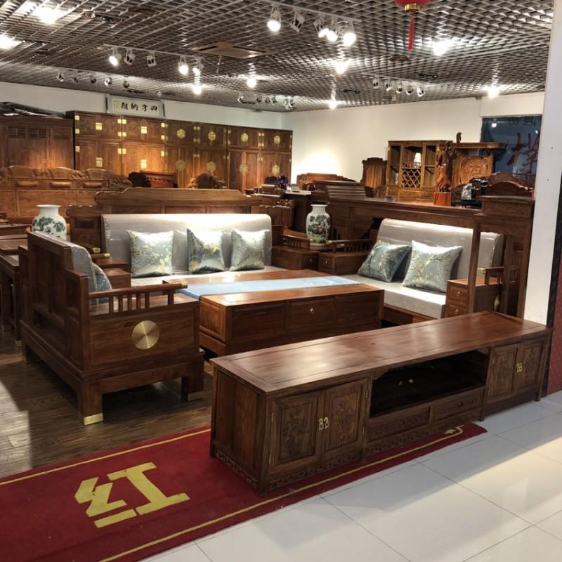实木沙发组合中式客厅家具SF-13