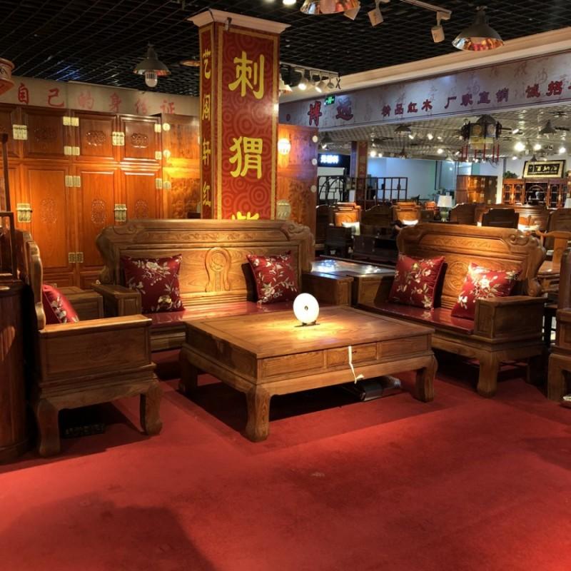 实木沙发组合套装 客厅雕花沙发SF-17