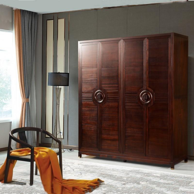 居兴闻檀实木家具衣柜衣橱 博古架 新中式实木衣柜衣橱1