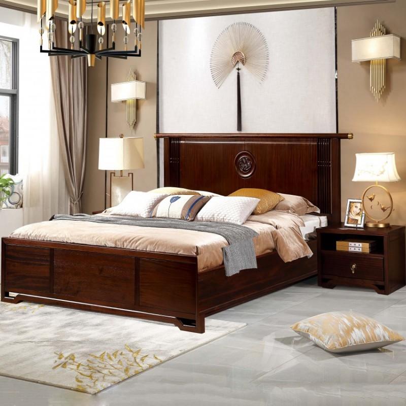 居兴闻檀实木家具大床床头柜卧房套衣柜衣橱  新中式实木卧房套1